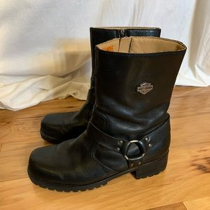 Harley Davidson womens Ashby leather harness boot